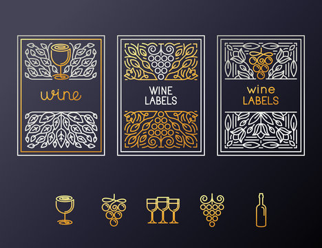 Wine packaging design template