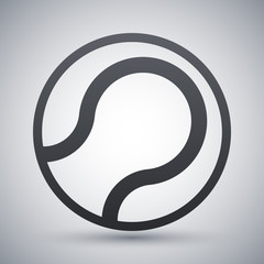 Vector tennis ball icon