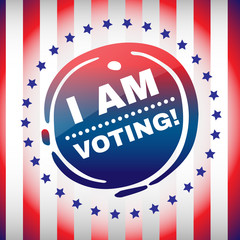 I Am Voting Banner USA Presidential Elections