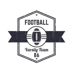 American Football team vintage logo, badge, vector illustration