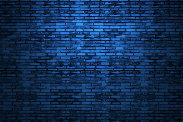 Background of old vintage dark blue brick wall
