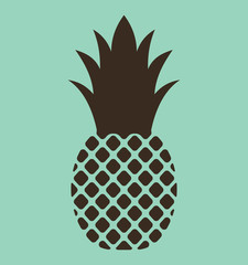 pineapple. vector icon