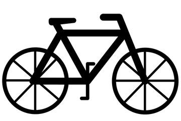自転車のイラスト 右向き
