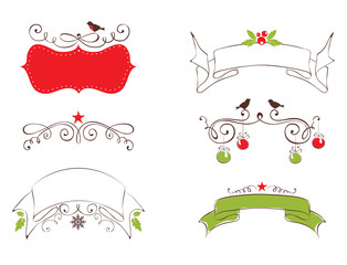 Set design elements for Christmas and New year