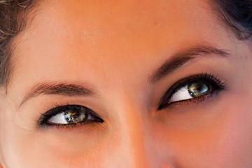 Grey eyes beautiful latina girl