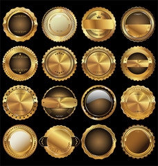 Empty luxury golden labels collection
