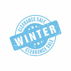 Vector Clearance Big Sale Winter stamp