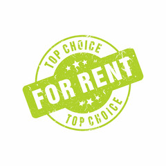 Vector Top Choice For Rent stamp