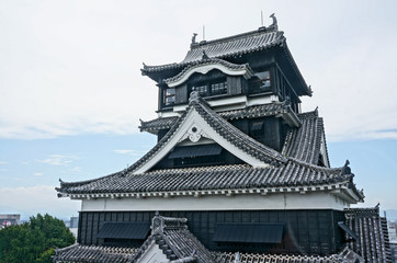 The magnificent Kumamoto castle, one of the beautiful castle in Japan