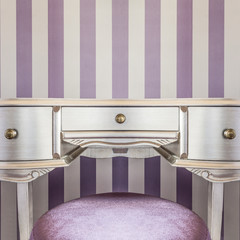 Silver baroque style commode in fancy room