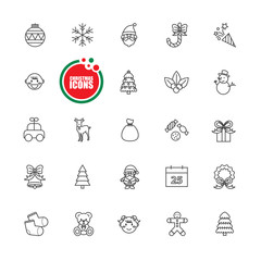Christmas and Winter vector illustration  set