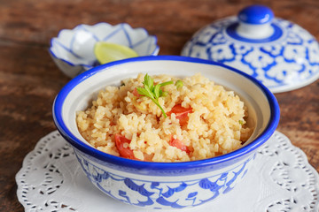 Bowl of egg fried rice