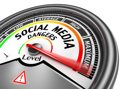 Social media dangers level to maximum modern conceptual meter