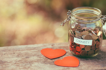 Charity money jar