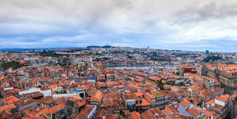 Panoramic view over Porto, Portugal