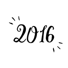 Happy New Year 2016 Typographical Background.