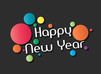 Happy new year - 2016 - Vector