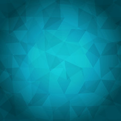 abstract geometric background of triangles on colorful cyan fond