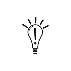 Creative Idea in Bulb Shape as Inspiration Concept Icon.