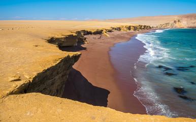 Red Beach in Paracas Natural Reserve, Peru