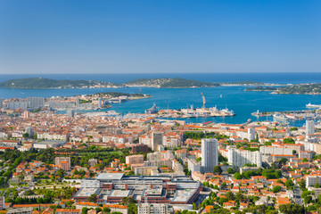 Toulon in a summer day