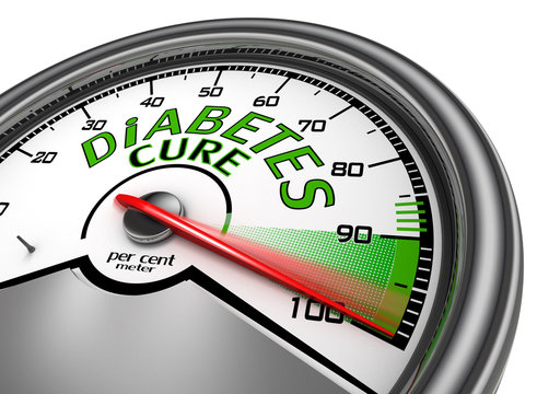 Diabetes cure conceptual meter indicate maximum