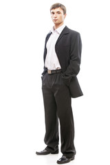 young man in suit full