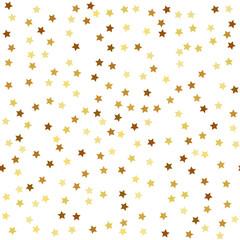 Gold star seamless pattern