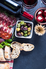 spanish tapas , food border background