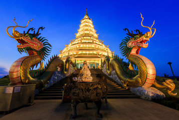 Landmark Temple wat hyua pla kang (Chinese temple) Chiang Rai, T
