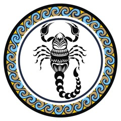 Decorative Zodiac sign Scorpio