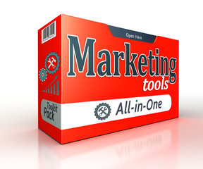 marketing tools red pack concept box
