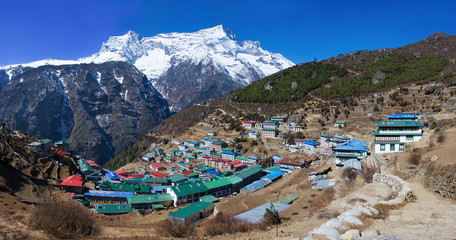 Namche Bazar in Khumbu district, Himalayas, Nepal
