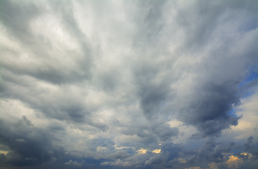 Fotobehang - grey sky on a winter day