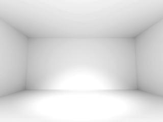 Empty White Room Design Background