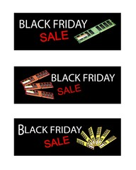 Computer RAM on Black Friday Sale Banners