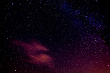 real starry nightsky with milky way