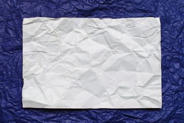 paper card on on violet   background
