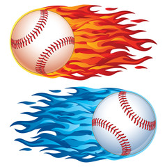 Vector Baseball in Flames