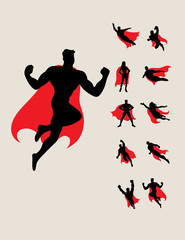 Superhero Silhouettes, art vector design
