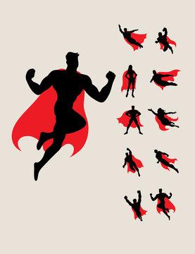 Superhero Silhouettes, art vector design