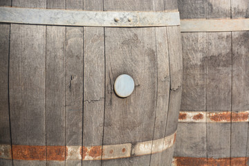 barrica vieja de madera