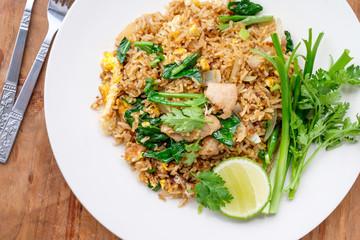 fried rice with pork, Thai cuisine