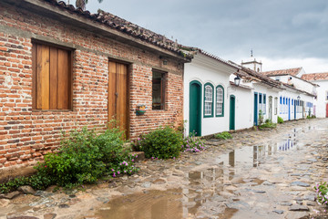 View of an old colonial town Paraty, Brazil