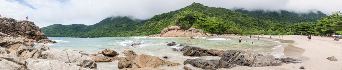 Praia Meio beach in Trindade village near Paraty, Rio de Janeiro state, Brazil.
