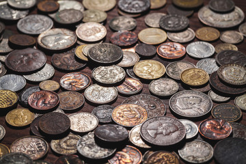 old coins background