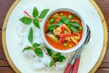 Fermented Rice Flour Noodles /kanomjeen