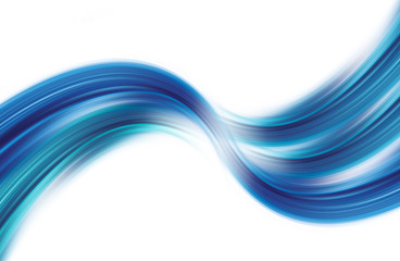Waving Blue Curves Isolate on Wihte Background