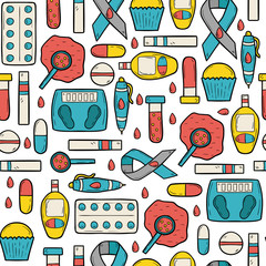 Seamless diabetic background
