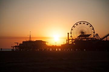 Santa Monica Pier Ferris wheel Wall mural